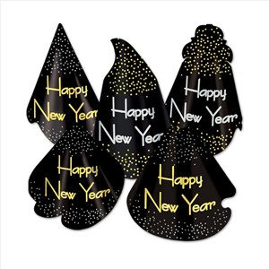 50Pcs Happy New Years Hat Assortment
