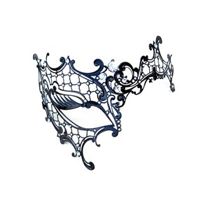 Black Decorative One Eye Metal Venetian Mask