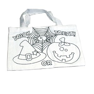 Color Your Own Halloween Tote Bag