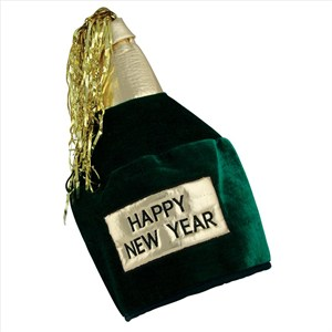 Happy New Year Bottle Head Hat