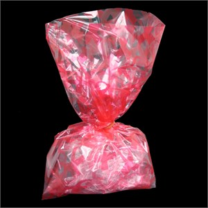 Pink Ribbon Cellophane Bags