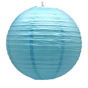 "12"" Light Blue Paper Lanterns"