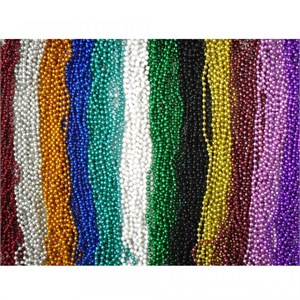 Mardi Gras Beads Bulk Necklace Assortment - 144pcs