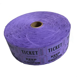 Purple Double Raffle Ticket Roll
