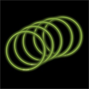 50-Pack 22 Inch Glow Necklaces - Green