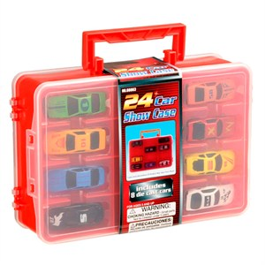 24 Car Carrying Case With 8 Cars