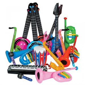 24ct Create Your Own Band Inflatable Instruments