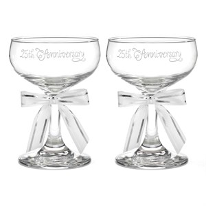 25th Anniversary Champagne glasses