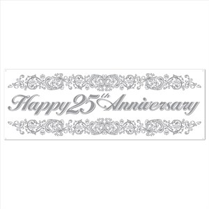 25th Anniversary Sign Banner