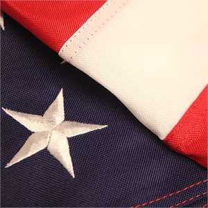 3ft By 5ft Heavy Duty Nylon Embroidered American Flag