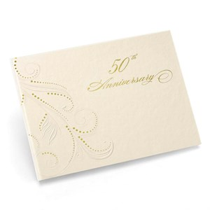 50th Anniversary Swirl Dots Guest Book
