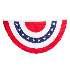 "USA Bunting Red White And Blue  Banner Size: 36"" T x 70"" W'"