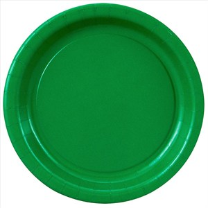 Green Paper Plates - 7""