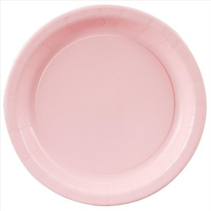 Pink Paper Plates - 7""
