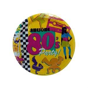 80's Themed Party Plates