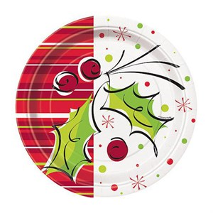 Christmas Paper Plates - 8 5/8""
