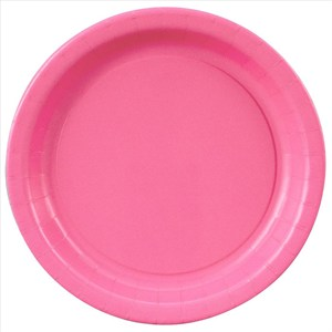 """Hot Pink Paper Plates - 8 5/8"""""""