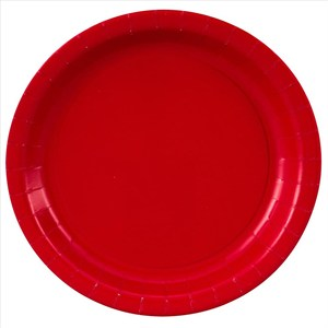 Red Paper Plates - 8 5/8""