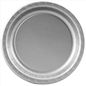 Silver Paper Plates - 8 5/8""