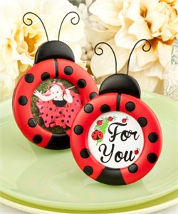 Adorable Ladybug Photo Place Card Frames