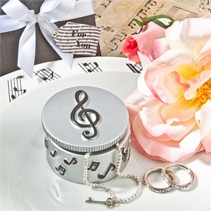 Adorable Musical Note Trinket Box Favors