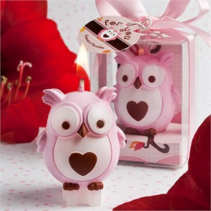Adorable Pink Owl Candles