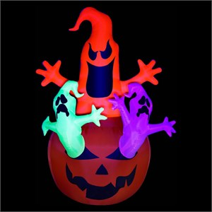 Nite Glo Airblown Ghosts With Pumpkin