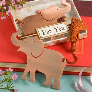 Alluring Elephant Bookmark Favor