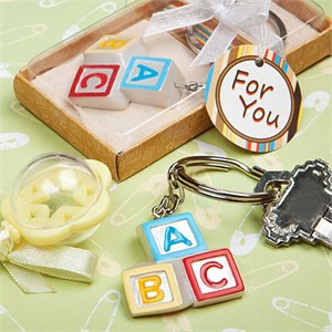 Alphabet Block Key Chains