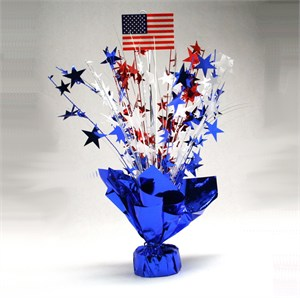Red White and Blue American Flag Foil Centerpiece