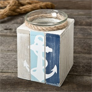 Anchor Candle Holder with Candle