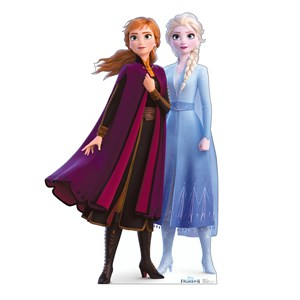 Anna And Elsa Frozen 2 Cardboard Standup