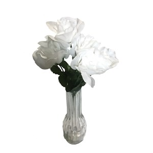 Artificial White Rose Bunch