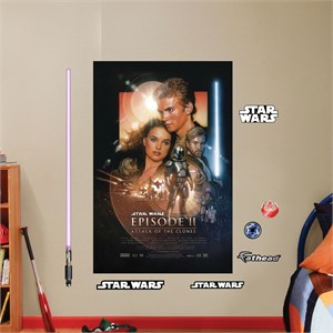 Attack of the Clones Movie Poster Mural