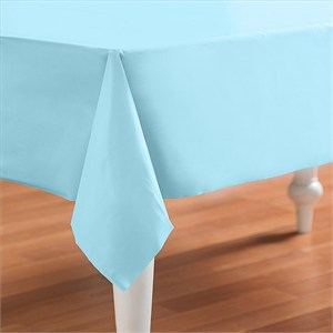 Baby Blue Powder Blue Plastic Table Cover - Rectangle