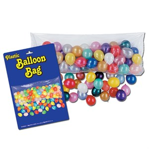 Balloon Drop Bag With Balloons And Pump