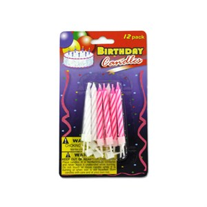 Birthday Candles With Plastic Stands
