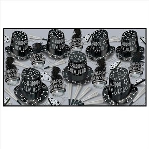 Black Diamond New Years Eve Party Kit For 50