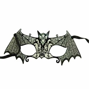 Black Metal Venetian Bat Mask