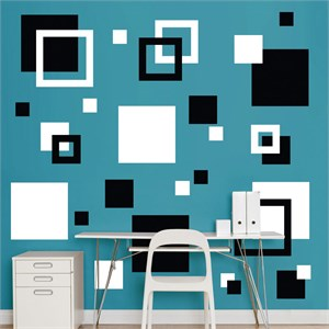 Black And White Squares REALBIG Wall Decal