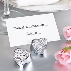 Bling Collection Heart Place Card Holder
