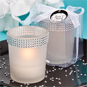 Bling Collection White Candle Holders