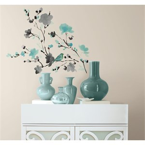 Blossom WaterColor Bird Branch Decal