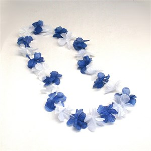 Blue And White Flower Lei