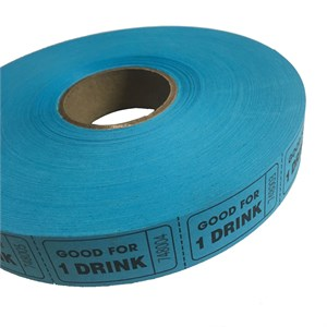 Blue Good For One Drink Ticket Roll