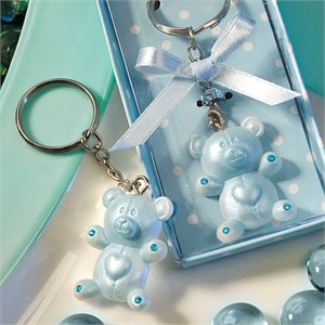 Blue Teddy Bear Design Favor Saver Key Chains