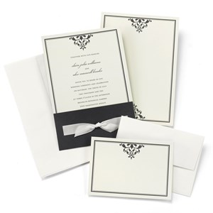 Bottom Ribbon-Tied Wrap And Invite Kit
