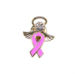 Breast Cancer Awareness Angel Pin