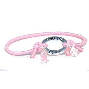 Breast Cancer Awareness Stretch Bracelet