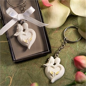 Bride And Groom Design Favor Saver Keychain Favors